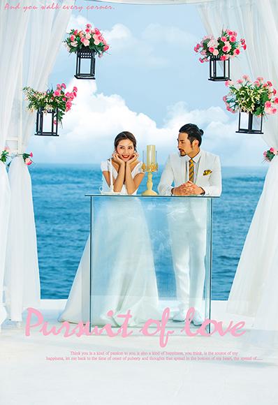 巴厘岛海边婚礼平台